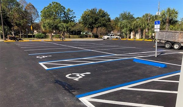 Tampa Bay Parking Lot Striping and Directional Painting Services